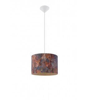 1 Light Cylindrical Ceiling Pendant Multi-Color