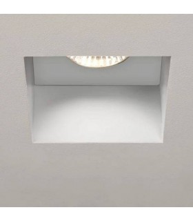 1 Light Square Bathroom Recessed Spotlight White IP65