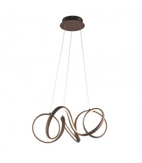 LED Ceiling Pendant Textured Coffee & White Silicone