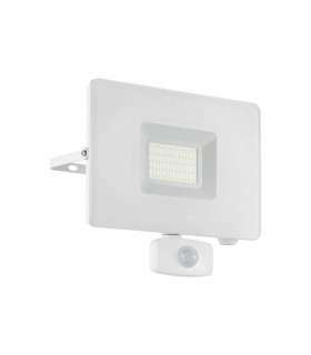 LED Outdoor Wall Flood Light with PIR Motion Sensor White IP44