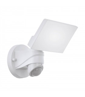 LED Outdoor Flood Wall Light with PIR Motion Sensor White 6567