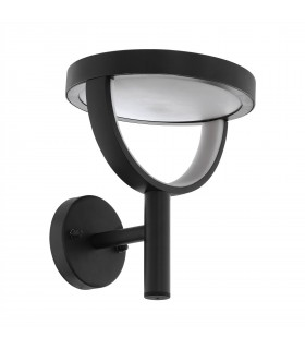 LED Outdoor Wall Light Black IP44