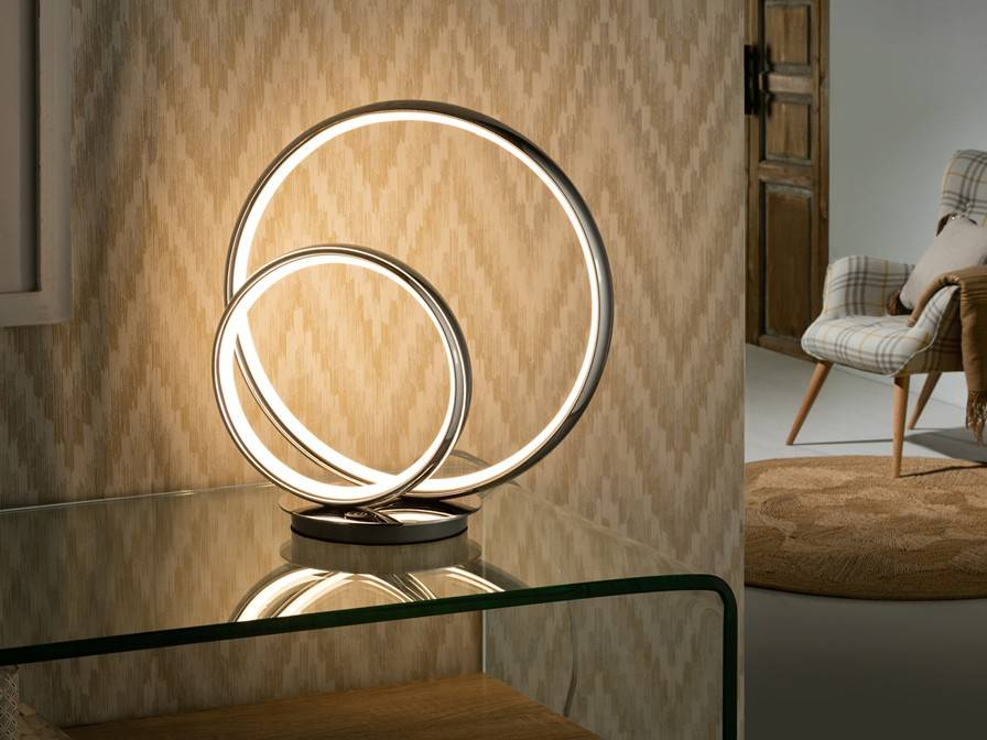 Integrated Led Table Lamp Chrome