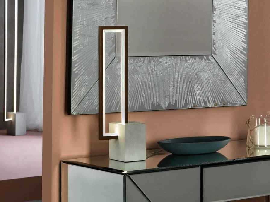 Integrated Led Table Lamp Wood