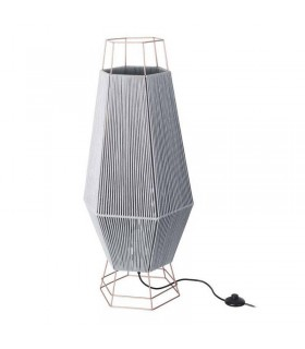 Floor Lamp Copper Grey 1x E27