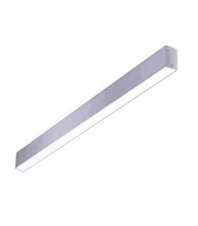 LED Linear Flush Ceiling Light Grey 120cm 2635lm 4000K