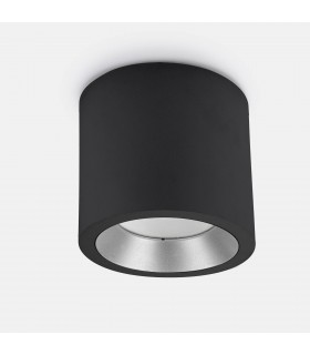 Outdoor LED Surface Mounted Ceiling Light Black 12.6cm 1324lm 3000K IP65