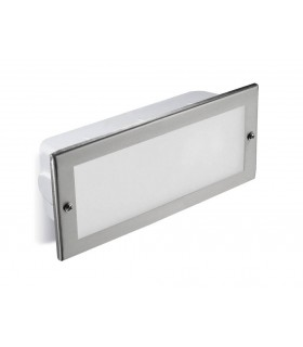 Outdoor Recessed Wall Light Stainless Steel 1x E27 23.5cm IP44