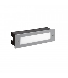 Outdoor LED Recessed Wall Light Grey 29.8cm 1140lm 3000K IP65