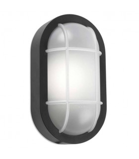 Outdoor LED Bulkhead Wall Light Grey White 701lm 3000K IP65