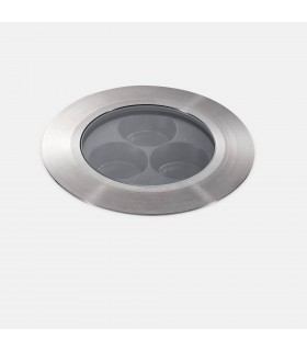 Outdoor LED Ultra Compact Uplight Recessed Stainless Steel Polished 12.5cm 2340lm 37deg. 3000K IP67