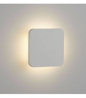 LED Indoor Wall Light Paintable Recessed White Plaster