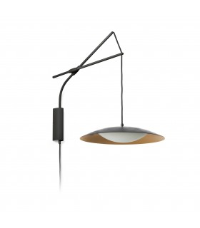 Led Wall Lamp Extendable Black, Gold 40cm