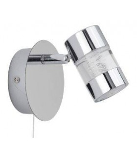 LED 1 Light Bathroom Wall Spotlight Chrome, Bubble Effect IP44