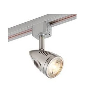 1 Light Track Light Satin Chrome Plate, Silver