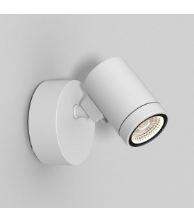 Single Spot LED Outdoor Spotlight Textured White IP65