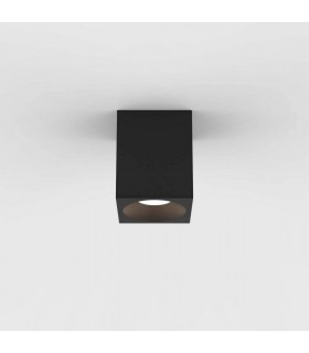 Outdoor Square Surface Mounted LED Downlight Textured Black IP65