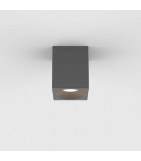 Outdoor Square Surface Mounted LED Downlight Textured Grey IP65
