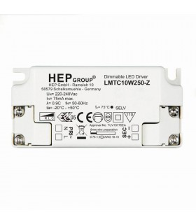 LED Driver Contant Current 250mA 10W Phase Dimmable White