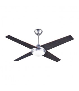 1 Light Ceiling Fan Satin Nickel