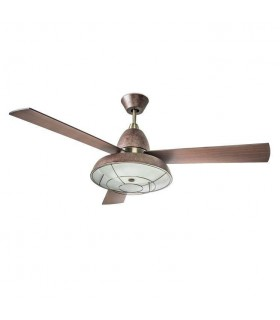 2 Light Ceiling Fan Rusty Brown