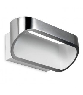 LED 1 Light Up & Down Small Wall Light White, Brushed Aluminium