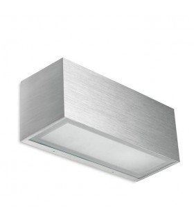 1 Light Up & Down Wall Light Brushed Aluminium IP44, E27