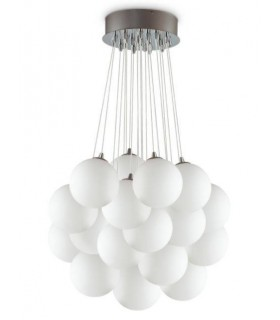 22 Light Large Cluster Pendant White, E14