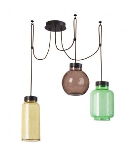 Integrated LED Cluster Ceiling Pendant Brown, Green, Amber