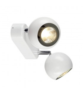 Twin Wall And Ceiling Light, White, Chrome, Gu10
