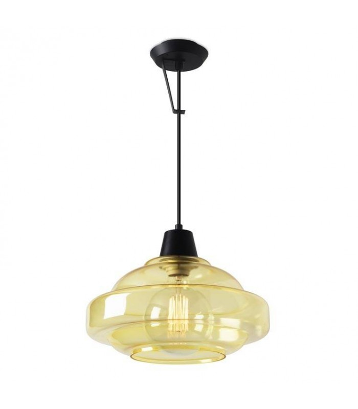 Colour Pendant Ceiling Wall Light Yellow