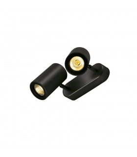 2 Light Wall And Ceiling Spot, Double, Black, Gu10