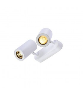 2 Light Wall And Ceiling Spot, Double, White, Gu10