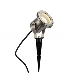 1 Light Spike Stainless Steel, Gu10, Includes 1.5M Lead With Plug, IP55