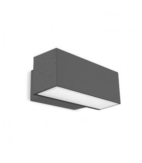 LED Outdoor Up / Down Wall Light Urban grey IP65