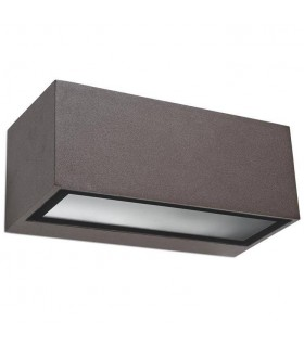 1 Light Outdoor Wall Light Brown IP54, E27
