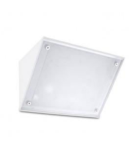 1 Light Outdoor Wall Light White IP65, E27