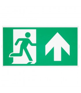 Emergency Stair Sign, Big, Green