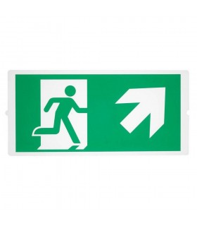 Emergency, Stair Signs For Area Light, Green