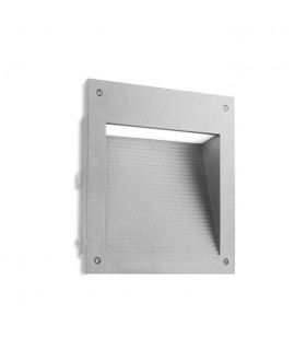 LED Outdoor Large Recessed Wall Light Grey IP65
