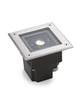 LED 3 Light Outdoor Square Recessed Floor Light Stainless Steel Aisi 316 IP67