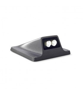LED 1 Light Outdoor Lamp Urban Grey IP65