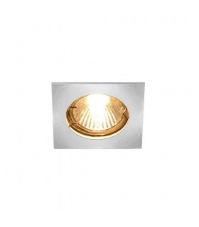 1 Light Indoor Recessed Ceiling Downlight, Chrome, Fixed