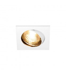 1 Light Indoor Recessed Ceiling Downlight, White, Swivelling