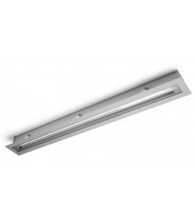 1 Light T5 Recessed Strip Outdoor Ceiling Light Grey IP54