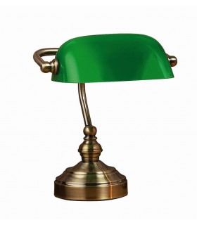 1 Light Banker Table Lamp Oxide, E14