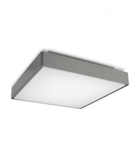 LED Large Outdoor Ceiling Light Grey IP65