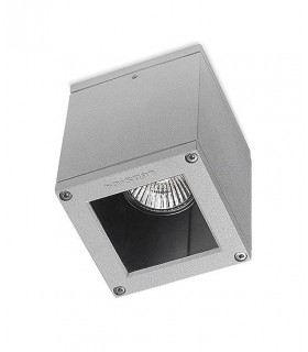 1 Light Outdoor Surface Mounted Ceiling Light Grey IP54, GU10