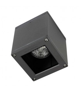 1 Light Outdoor Surface Mounted Ceiling Light Urban Grey IP54, GU10
