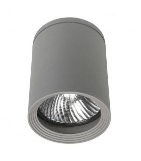 1 Light Outdoor Surface Mounted Ceiling Light Grey IP54, E27
